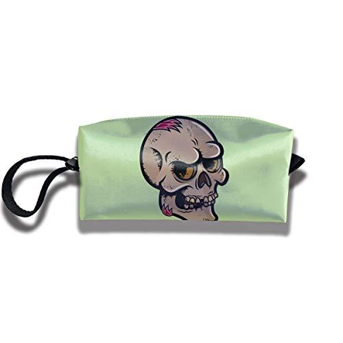 Coin Pouch Halloween Skull Pen Holder Clutch Wristlet Wallets Purse Portable Storage Case Cosmetic Bags Zipper -