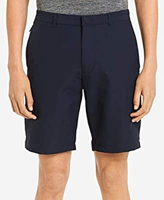 Calvin Klein Mens Tech Slim Fit Khaki, Chino Shorts Navy 40