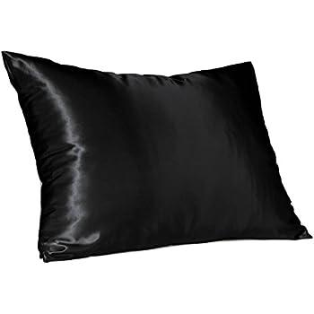 Black Satin Pillowcase Stunning Amazon Sweet Dreams Blissford Luxury Euro Satin Pillowcase