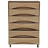Kardiel Arne Vodder Tall Boy Chest Dresser Retro Modern Cabinet, Ash Wood