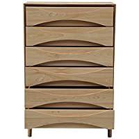 Kardiel Arne Vodder Tall Boy Chest Dresser Retro Modern Cabinet, Ash Wood