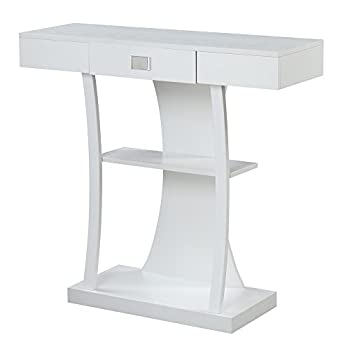 Convenience Concepts 111960W Newport Console Table Harri, White