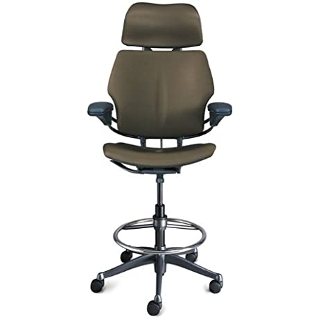 Freedom Tall Task Chair With Headrest Armrests And Footring Polished Aluminum Titanium 165987 OG 111001 O 511896 OG 111002 O 511897 OG 111004 O 511921