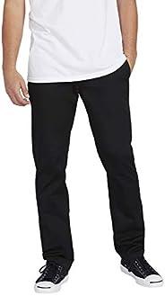 Calça de sarja masculina Volcom Frickin de modelagem moderna