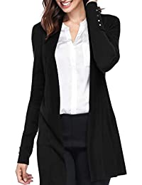 Open Front Knit Cardigans for Women Lightweight Cover-up Long Sleeve Cardigan Sweaters
