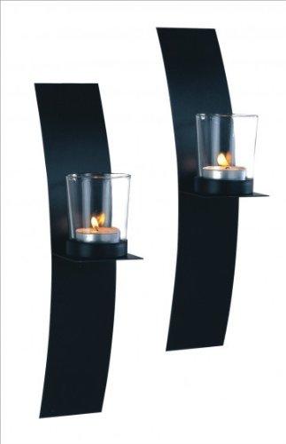 Kerzen Wandhalter Metall Platte im 2er SET + NEUWARE + TOP Angebot