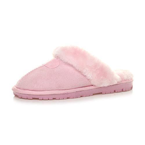 Casa Ajvani Estar Zapatillas Mujer Para De Rosa Por wvZqBp