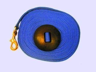 Intrepid International Lunge Line with Rubber Stopper, Blue, ()