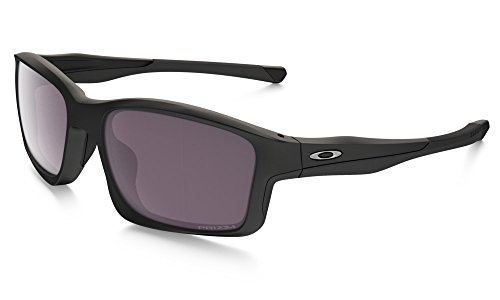 - Oakley Men's Chainlink OO9247-15 Polarized Rectangular Sunglasses, Matte Black, 57 mm