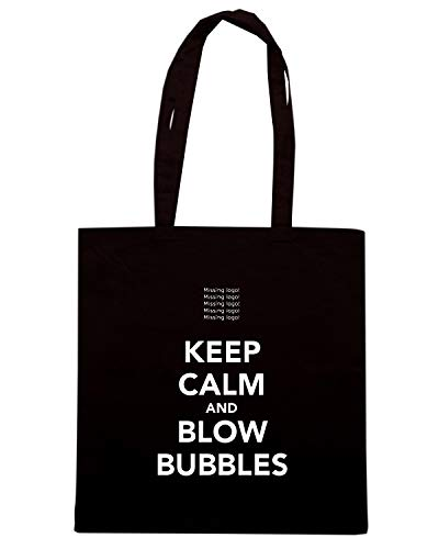 Speed BUBBLES CALM Borsa KEEP Nera Shirt BLOW TKC0952 AND Shopper r4wrU