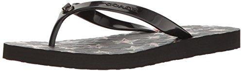 Coach Abbigail Black Flip Flop, Size -