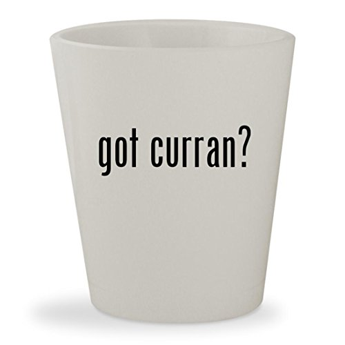 got curran? - White Ceramic 1.5oz Shot - Thomas Browne Glasses