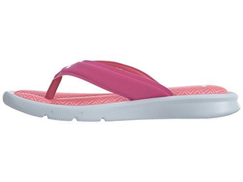 NIKE Womens Ultra Comfort Thong Sandal Pink Fire Ii/White-iced Lilac CArix