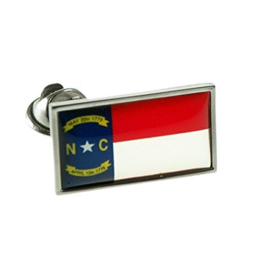 USA American NORTH CAROLINA State Flag Lapel Pin Badge