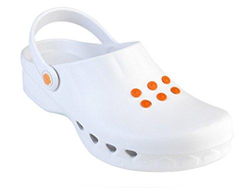 léger nbsp;; Chaussures professionnelles Nube des chocs WOCK les nbsp;; nbsp;; antistatique Blanc protection contre déversements nbsp;; ultra Antidérapant amortissement BI8wAw
