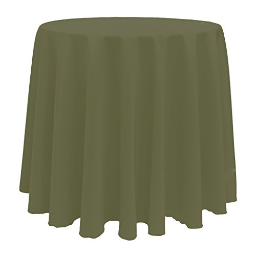 Ultimate Textile  96-Inch Round Polyester Linen Tablecloth -