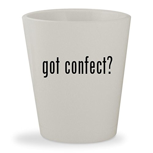 got confect? - White Ceramic 1.5oz Shot Glass