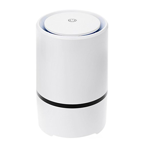 Portable USB Desktop Air Purifier Anion Sterilization Air Cleaner Air Ionizer Ture HEPA Home and Car Purifier Remove Cigarette smok Dust Pollen Bacteria Odors for Home Office Bedroom