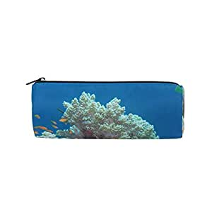 Pencil Case Coral Beauty School Pen Pouch Office Zippered ...