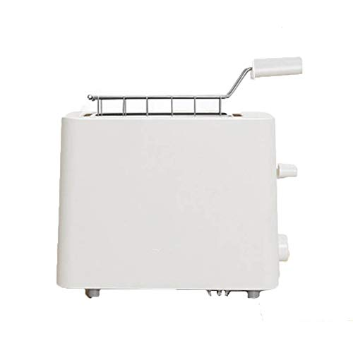 Compact Fast Breadmaker, Mini Toaster White Home Breakfast Toaster 2 Pieces Mini Automatic Toaster, 500w White