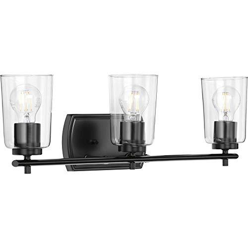 Progress Lighting P300156-031 Adley Three-Light Bath & Vanity with Clear Glass, 7-5/8