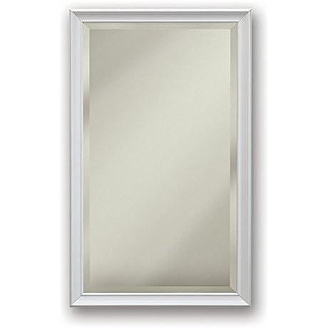 Jensen S568N344SSWHPX Gloss White Frame Bevel Mirror Medicine Cabinet 15 X 35