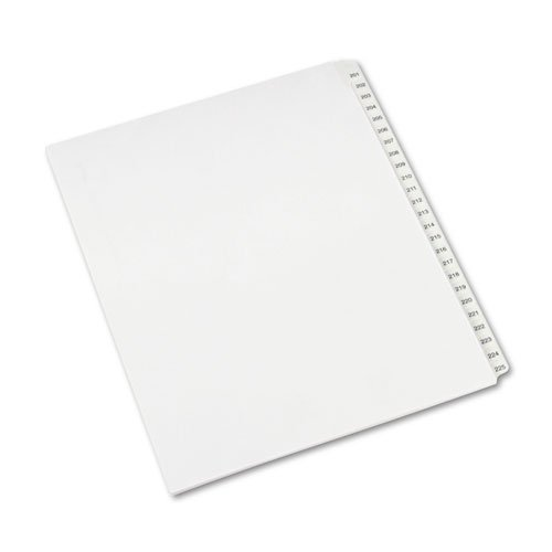 Avery® - Allstate-Style Legal Side Tab Dividers, 25-Tab, 201-225, Letter, White, 25/Set - Sold As 1 Set - Rip ProofTM reinforced, dual-sided, laminated tabs make it easy to organize your -