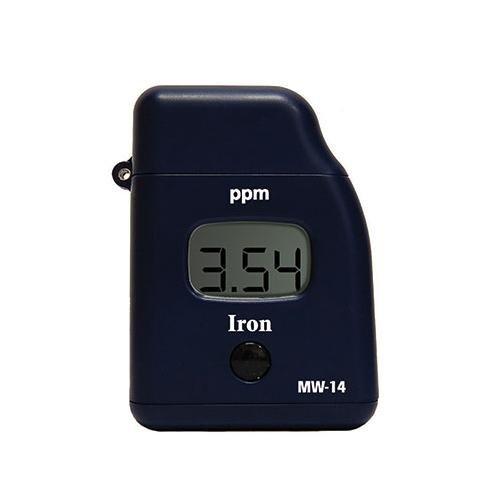 Milwaukee Instruments MW14 Iron Handy Photometer, 0.00 to 5.00PPM Range, 0 Degree C to 50 Degree C Temperature Range, 0.01PPM Resolution