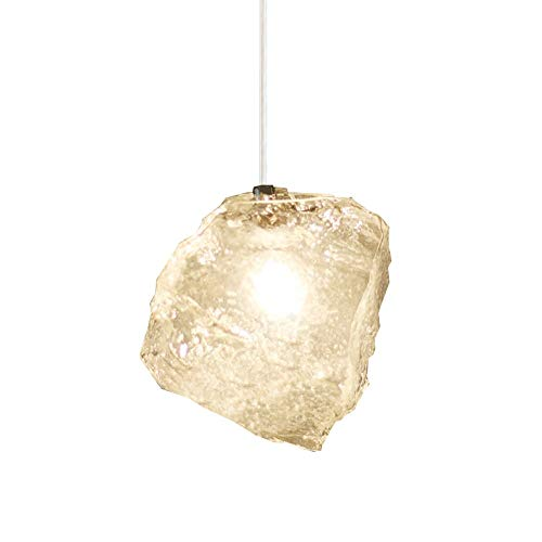 Creative Personality Glass Ice Cube Small Hanging Lamps 100CM Chain Adjustable Ceiling Pendant Light Nordic Restaurant Suspension Lighting Fixtures Modern Simple Classic Drop Lamps Chandeliers