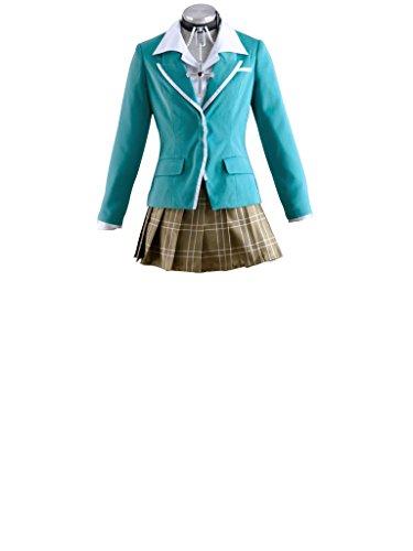 [Mtxc Women's Rosario + Vampire Cosplay Costume Akashiya Moka 1st School Uniforms Size Large Green] (High School Vampire Costume)