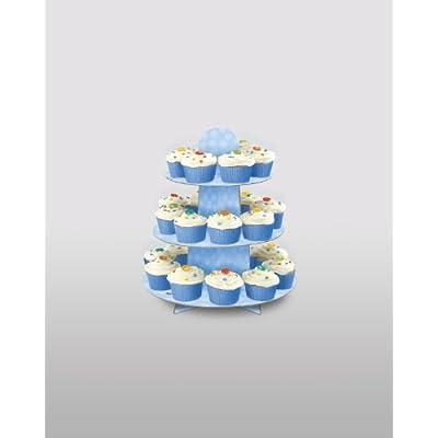 Light Blue Cardboard Cupcake Stand: Kitchen & Dining