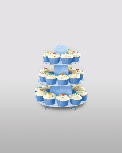 Review Light Blue Cardboard Cupcake