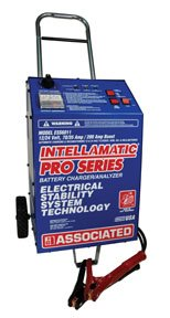 Associated Equipment ESS6011 12/24V 70/35 Amp 200 Amp Boost Charger/Analyzer with Wheels