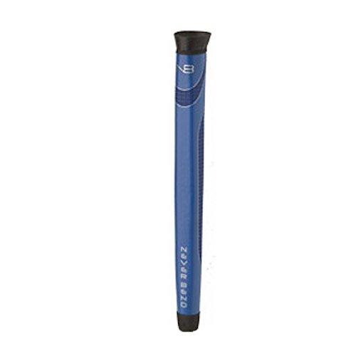Never Bend Midsize Putter Grip & Ball Retriever (.580 Round, BLUE) (Bend Golf)