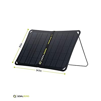 Goal Zero Nomad 10, Foldable Monocrystalline 10 Watt Solar Panel with USB Port, Portable Solar Panel Backpacking, Hiking and Travel. Lightweight Backpack Solar Panel Charger with Adjustable Kickstand : Garden & Outdoor
