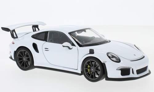 Modello Finito 991 Unbekannt Porsche 911 2015 Welly 1:24 Bianco GT3 Rs Modellino Auto