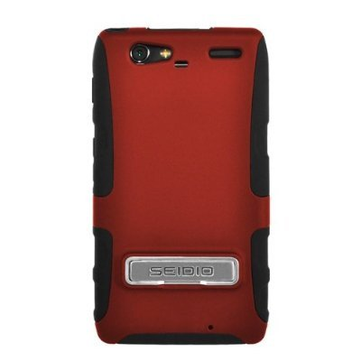 Seidio ACTIVE with Metal Kickstand Case for the Motorola Droid RAZR MAXX - Garnet Red