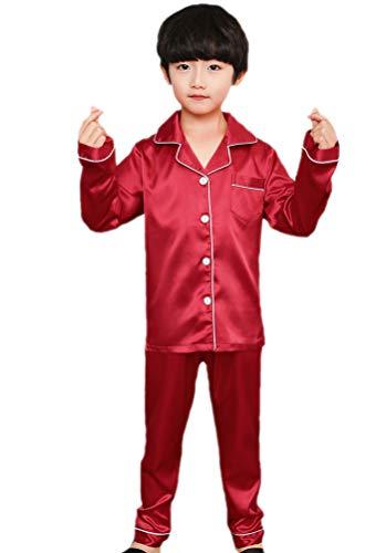 Horcute Pajamas Little Kid Sleepwears Set Pjs Clothes Long Sleeve Red 130# 5-6Y