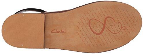 Clarks Dames Caberet Bedeljurk Sandalen Tabak