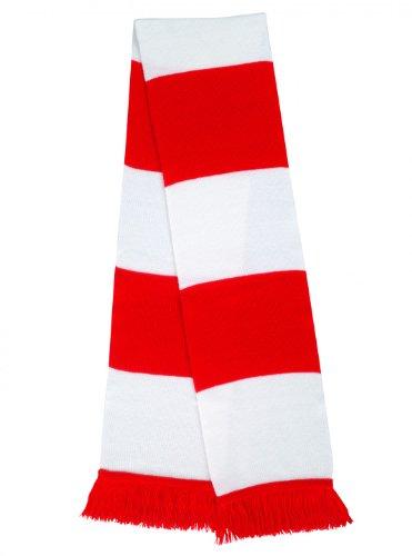 Resultado R146X seguidores bufanda, Unisex, R146X, azul oscuro y rojo, talla única Rojo/Blanco