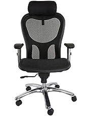 كرسي كيارا 93566 بتصميم عالي الظهر وشبكي ومريح من ماهمايي - بلون اسود