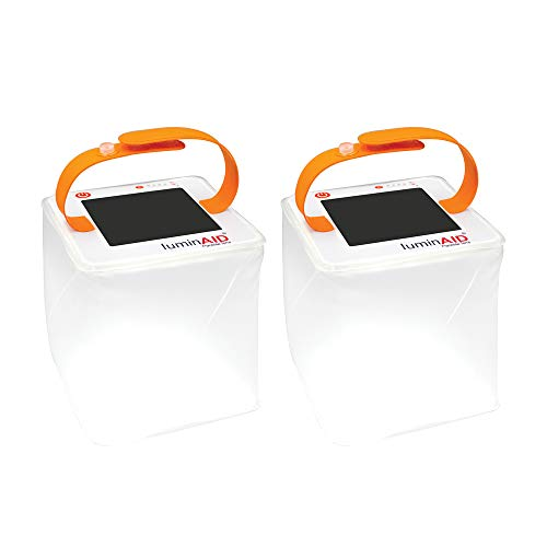 LuminAID PackLite Terra 2-Pack Solar Inflatable Camping and Emergency Lantern
