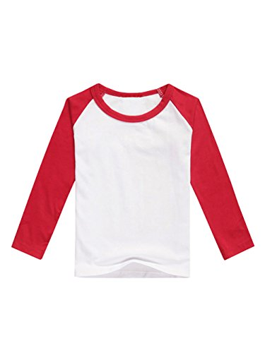 (GAMISOTE Boys Raglan Baseball Tee Girls Long Sleeve Jersey T Shirts Unisex Baby Kid Tops)
