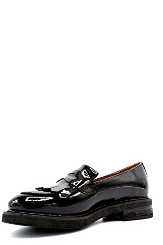 cuero zapatos de FRAU Ingl 98P5 negros Inglesina puntera nqAYTpqr