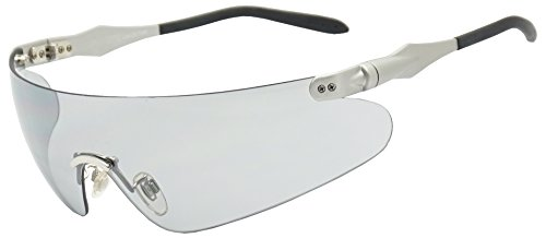 Lightweight Unisex Sports Wrap Sunglasses w/ Super Light Transparent Tinted Shield Lens (Silver, Transparent Grey)