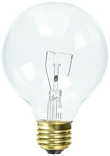 Bulbrite 40G25CL2 40W G25 Globe 120V Medium Base Light Bulb, Clear