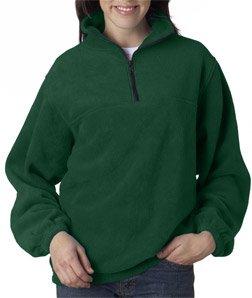 8480 UltraClub Adult UltraClub® Iceberg Fleece 1/4-Zip Pullover (Forest Green) (S)