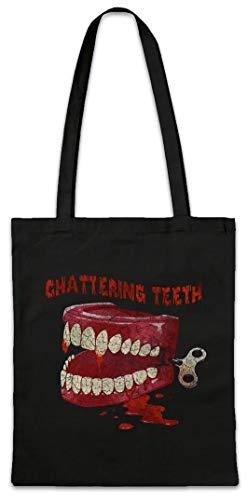 Chattering Teeth Reusable Hipster Shopper Shopping Cotton Bag]()