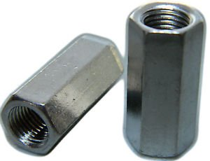 STAINLESS STEEL THREADED ROD HEX COUPLING EXTENSION NUTS 5/16-18 Qty 10 by LIGHTNING STAINLESS