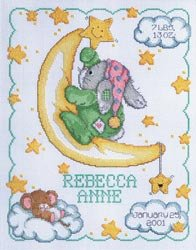 Janlynn 251138 Crescent Moon Sampler Counted Cross Stitch Kit-11 in. x 14 in. 14 Count ()